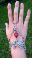 Heart Handflower by chainmaille