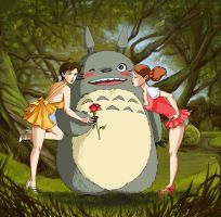 totoro: girls grew up by DameEleusys