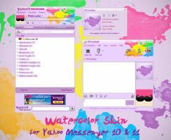 Yahoo Messenger Watercolor Skin by phetsss