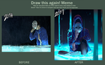 Before and after meme by NineTailFoxG