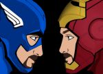 Me as Captain America and Iron Man in Civil War by Brandtk