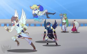 Kid Icarus Uprising 2nd Anniversary by KumoriDragon
