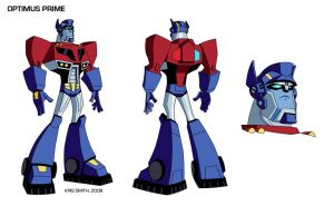 Animated Optimus Prime by KrisSmithDW