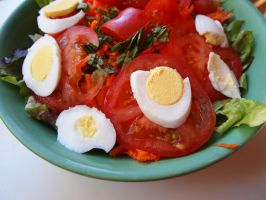 salad of tomato and egg by QuixoticOctopus