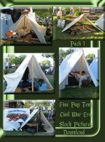 Civil War Pup Tent Pack 1 by WDWParksGal-Stock