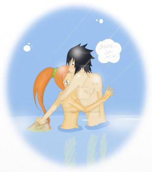 Orihime x Sasuke by Marionette-of-Fate