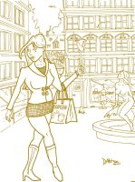 Shopping Girl in Old Town by JokerX2011
