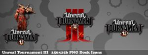 Unreal Tournament 3 Dock Icons by dozy-de