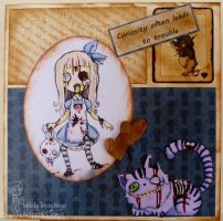 Zombie Alice and Chesire cat by Booyagirl