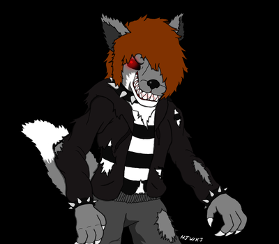 Psycho Wolf Redux IN COLOR! by KageJason