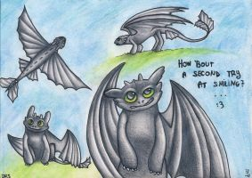 Commission: Toothless, HTTYD by bbfan77