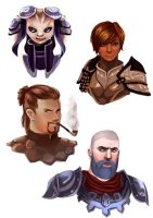 GW2 Character Portraits by Paola-Tosca