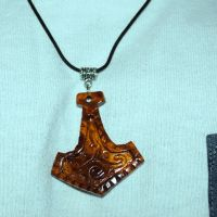 Thors Hammer, Handmade wooden pendant, Exotic burl by JOVictory