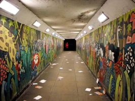 graffiti tunnel by lucyparryphotography