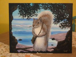 Pesky squirell by KrisOwrey