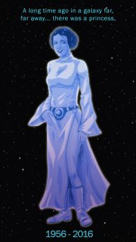 In Memory of Carrie Fisher by IAmNoxArt