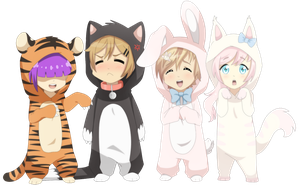 [ MH ]  Kigurumi Cuties by VanilleCream