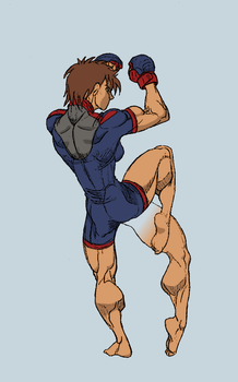 Gettar82's MMA girl coloring 3 by chipperpip