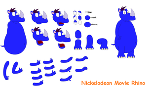 Character Builder - Nickelodeon Movie Rhino by TheFoxPrince11