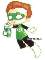 Green Lantern chibified by zimra-art