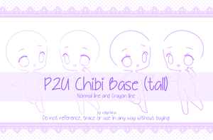 [P2U] Chibi Base (tall) by Valyriana