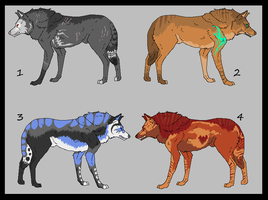 .::OPEN::Wolf Adopts::. by SpazmAdopts