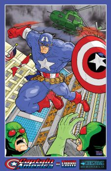 Captain America Print - Marvin Law by comics2movies