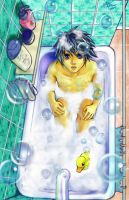 L in bath by meomeoow