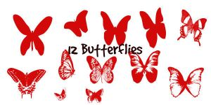 Butterflies Shapes by peteandbob