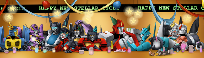 Commission - New Stellar Cycle Party by T-M-Wolf