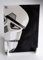 Stormtrooper Sketch Card by kevbrett