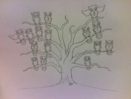 Family Tree Comm stage 1 by Darkf0rgd