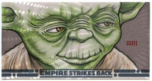 YODA Sketch Card  - ESB WV by Erik-Maell
