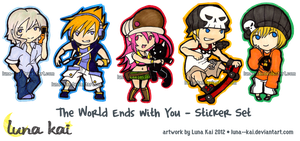 The World Ends with You - Sticker Set by luna--kai