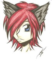 red haired doggy anime... by Abandonned-Kitty-Cat