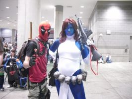 DEADPOOL AND MYSTIQUE by Darth-Slayer