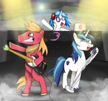 Two Bros and a DJ by MLJ-Lucarias
