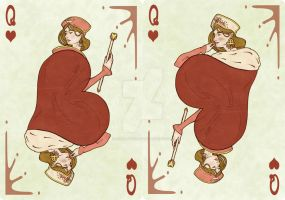 Fool of the World Q of Hearts by EJSCreations