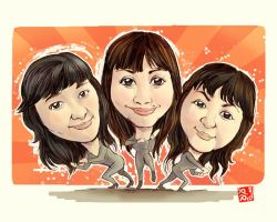 Caricature Charlies Angels by pipid