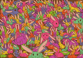 SO MANY BUNNIES by tasertail