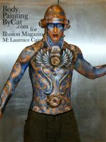 Steampnk angel bodyp Metropoli by Bodypaintingbycatdot