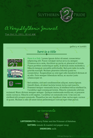 Slytherin Journal Skin by extraordi-mary
