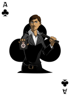 DS Chavez, Ace of Clubs by micahdraws