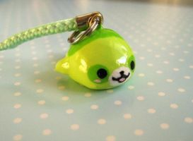 Green Panda Mamegoma Charm 1 by Shattered-Earth