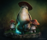 Dark Souls - Mushroom Parent and Child by tetsuok9999