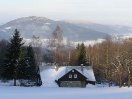 Wintry Landscape Stock by maslenitsa