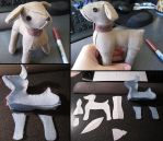Commission - Downton Abby Plush Dog by samanthawagner