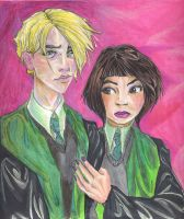 6th year Draco and Pansy, HP by AmberPalette