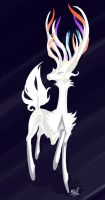 White Xerneas by WindsweptHells