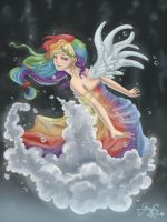 Rainbow Dash Underwater Edition by Grace-Allergies